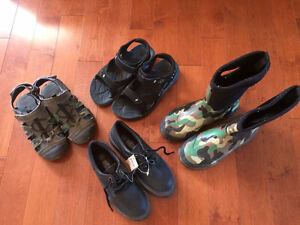 New and used boys sandal, shoes and rain boots