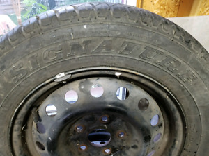 Toyota Steel rim with All Season Dunlops