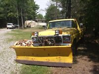 1978 Ford F-250 Pickup Truck with meyers plow