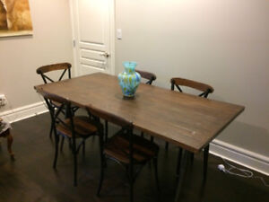 Brand New Antique Warehouse Dining Set For Sale