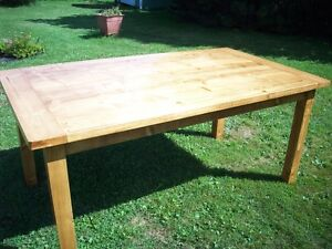 Solid Pine Harvest Table