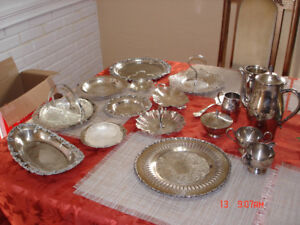 Silver plated serving dishes