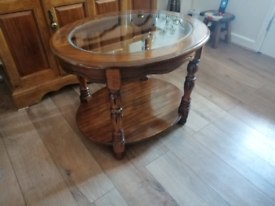 Mid oak side table