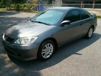 2005 Honda Civic Coupe $3300 ***Sold/Vendu***