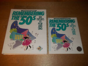 Remembering the 50s-100 top hits to play and sing with lyric boo