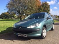 ***STUNNING*** Peugeot 206 lx long mot,low miles