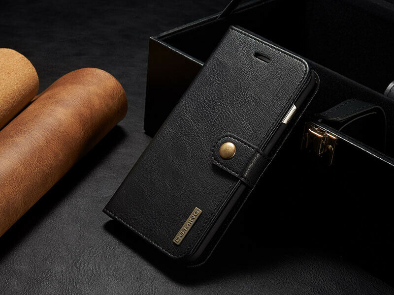 Retro Leather Removable Wallet Magnetic Flip Case Cover