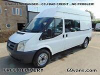 2009 59 FORD TRANSIT 350 LWB, SIX SEAT CREW VAN, TAIL LIFT/RAMP, FORMER MOD FSH