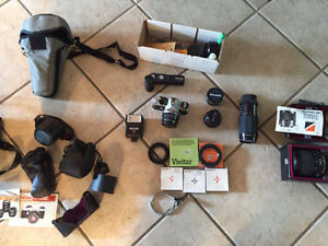 Pentax ME Super with lots of lens and accessories