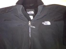 The north face mens jacket L black fleece polartec
