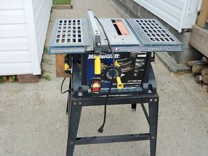 10in. table saw with stand