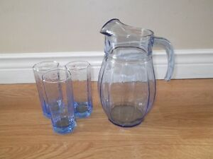 Glass Jug & Glasses