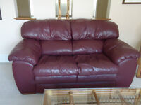 Burgundy Leather Loveseat by Palliser