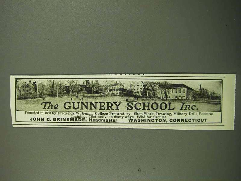 1918 The Gunnery School Ad