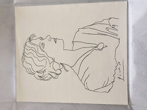 Pablo Picasso original ink drawing