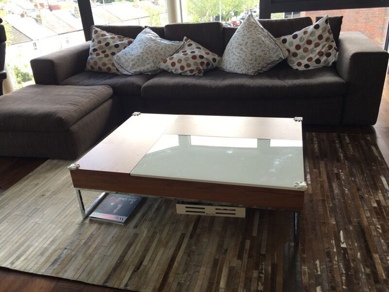Boconcept Chiva White And Walnut Coffee Table In London