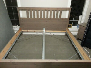 Great king size bed frame and end tables