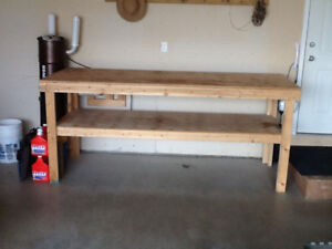 Work bench for garage or shop