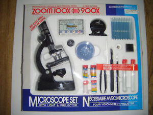 Microscope Set with accessories for sale.