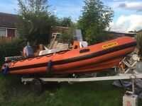 Humber assault 5.0 metre with mariner 40hp 2 stroke