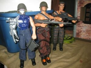 gi joe  3 Action MAN whit  rifle, sling, helmt