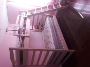 Custom made pine Twin size bunk bed, 3 years old.