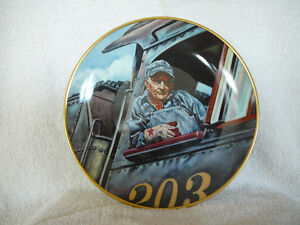Men of the Rails Porcelain Plate Collection