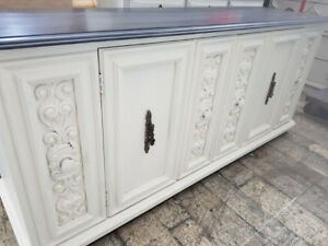 Beautiful Buffet with GORGEOUS CARVINGS - TV STAND and Storage!
