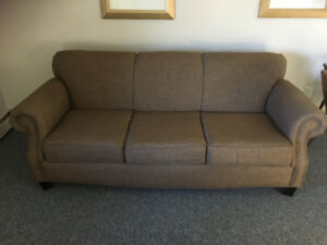 Nutmeg brown fabric couch