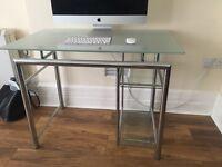 Glass computer desk & chair! Bargain