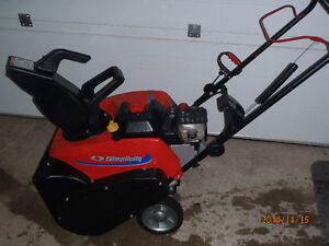 (SINGLE STAGE) SIMPLICITY 22 in. SNOW BLOWER $349  (like new)