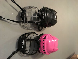 Children's hockey helmet w/cage