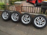 GENUINE BMW ALLOYS WITH TYRES