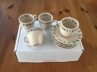 Espresso set (whittards)