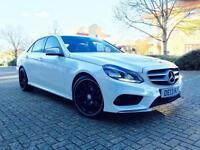 13 reg Mercedes-Benz E220 2.1 7G-Tronic Plus AMG Sport WHITE + BIG SPEC