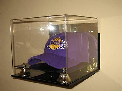 DELUXE WALL MOUNT ACRYLIC HAT - CAP DISPLAY CASE HOLDER Wall Mounted Acrylic Cap Case