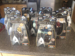STAR TREK 2009 WARP Collection Action Figs by PlayMates 9 x NEW