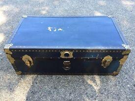 Vintage steamer trunk storage chest £35