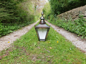 Large Sugg Victorian style half wall lamp/light/lantern house outside