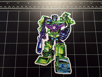 Transformers G1 Devastator box art vinyl decal sticker Decepticon constructicons