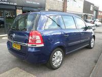 2008 Vauxhall Zafira 1.6i 16v ( a/c ) Life 5DR 58 REG Petrol Blue