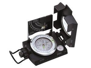 Baladéo Peilkompass Topo II, Metall, flüssigkeitsgedämpft, 360 Grad, Anlegekante