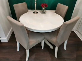 Ikea ingatorp white extending dining table