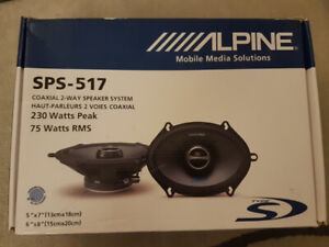 Alpine SPS-517 5'x7' Speakers
