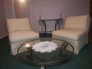 Matching coffee and accent tables