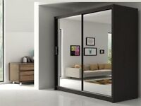 GET IT NOW- BRAND NEW FULLY MIRRORRED TWO DOORS SLIDING WARDROBE IN DIFFERENT COLOURS AND SIZES