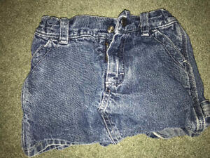 Girls Clothes Size 2T - Jean skorts and jean dress