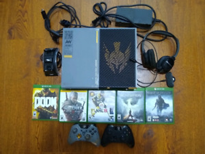 Xbox One COD Edition plus headset & games $450 OBO