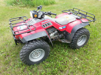 HONDA FOURTRAX 350 4X4 QUAD WILL CONSIDER PARTIAL TRADE FOR SLED