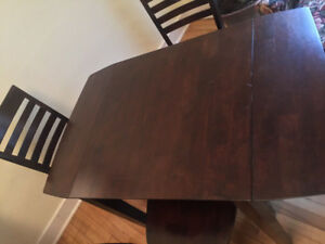Hardwood dining set